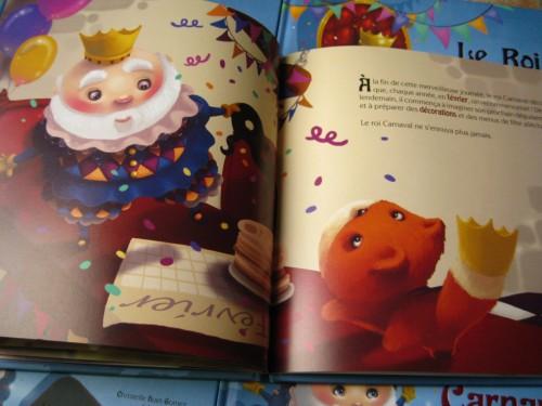 le roi carnaval, album jeunesse, line paquet, éditions grenouille